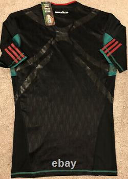 Adidas Authentic 2010 Mexico Black Jersey Match Worn Techfit Player Issue Size L