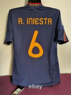 Andres Iniesta Shirt Spain World Cup 2010 / Match Un Worn Player Issue New