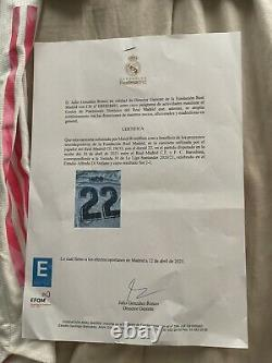 Match Worn Real Madrid Isco Vs Fc Barcelona With COA From Club Foundation