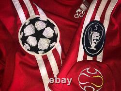Xabi Alonso Liverpool Match Worn Issued Champions League shirt 0607 Spain jersey